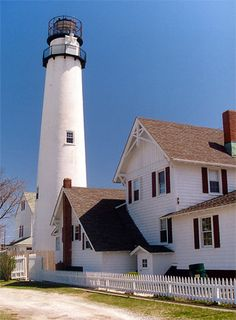 Fenwick Island Lighthouse in Delaware.