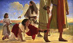 A women having an issue of blood twelve years Luke 8:43-48 Mark 5:25 Matthew 9:20.