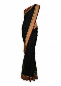 Featuring this beautiful black self-net sari in our wide range of Saris. Grab yourself one. Now!