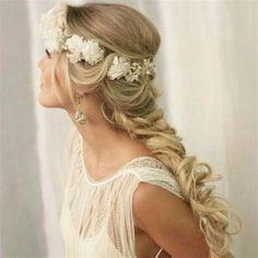 'Let your hair do the talking' Colored Braids, Coloured Hair, Bridal Braids, Bridal Hair, 2 Braids, Mermaid Hair, Braid Styles, Hair Looks, Hair Inspo