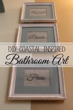 DIY Coastal Inspired Bathroom Art