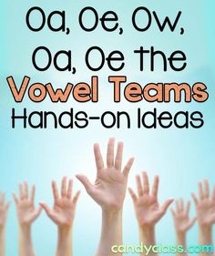 Plenty of great hands-on games and activities for teaching the vowel teams with the long vowel sound in a first grade classroom or other grade levels too.