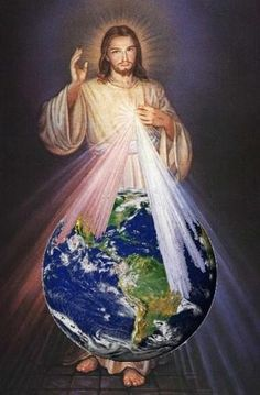 The Light of the World with Divine Mercy Miséricorde Divine, Divine Mercy Image, Pictures Of Jesus Christ, Religious Pictures, Christian Images, Christian Art, Jesus Painting, Jesus Art, Mary And Jesus