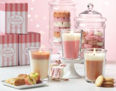 NEW! Just Desserts by #PartyLite - Apple Strudel, Marshmallow Peppermint and Vanilla Shortbread starting July 28. #candles