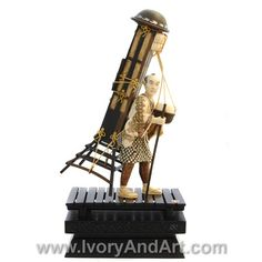 Mammoth Ivory Figurine of a man carrying goods tray on his shoulders.  Available at http://www.ivoryandart.com/product/mammoth-ivory-figurine-taking-goods-tray-on-his-shoulder/ FREE DELIVERY WORLDWIDE #art #sculpture #sculptures #antique #antiques #artist #ivory #netsuke #mammoth #arts #mould #craft #decor #handmade #sculpted #silver #bronze #porcelain #tusk #mammothivory #gems #GiftIdeas #gifts