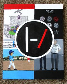 twenty one pilots Evolution of Albums painting by CanvasKase