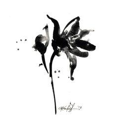 Brushstroke Floral ... Series No.7 ... by KathyMortonStanion, $35.00