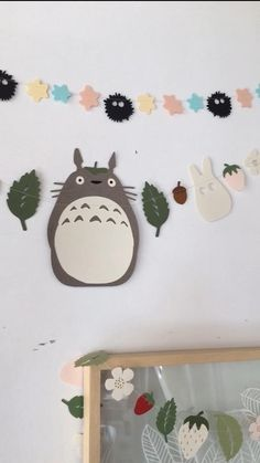 Diy For Kids, Crafts For Kids, Diy Crafts, Totoro Nursery, Cherry Blossom Party, Deco Kids, Anime Crafts, Kawaii Diy, Simple Poster