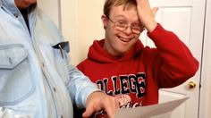 'They said yes?' Young man with Down syndrome gets into college program in heart-melting video...Love this <3