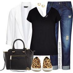 Plus Size Fashion - Minimalism by alexawebb on Polyvore  outfit, plus, plussize, size and alexawebb