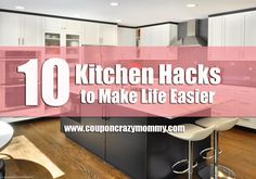 We all lead busy lives, right? That means when we do find ourselves in the kitchen, we should try to make our tasks as efficient as possible.  Here are 10 Kitchen Hacks to Make Life Easier...