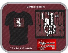 Benton Rangers School mock up.  Glitter  $15 for sizes up to xlarge $17 for sizes 2Xlarge and BIgger