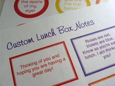 Lunch box notes! This would be a great crafty idea for a parenting group. Draw out their creative side and provide materials and encourage them to share their own (esp those who do stamping/scrapbooking, they have lots of neat stuff!) and make cute lunch box notes for their kids. Great back to school craft. Could do a program for both kids and adults at the same time, kids decorate lunchboxes, parents make the notes that will go in!