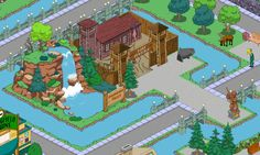 Simpsons Tapped Out ~ Springfield Falls & Fort Sensible