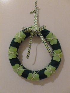 Shamrock St Patricks Day Wreath by LisasLittleJoys on Etsy, $20.00