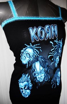 $25  Ladies amazingly beautiful and flattering KORN heavy metal band tank top   2019  $25  Ladies amazingly beautiful and flattering KORN heavy metal band tank top reconstructed to your size S M or L. Beautiful aqua blue baby blue velvet lace trim one of kind shirt you wont find anywhere else. I only have one left so get your hands on this awesome reconstructed band shirt while it lasts!  The post $25  Ladies amazingly beautiful and flattering KORN heavy metal band tank top   2019 appeared…