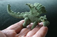 "Both of these dragons are made after Lucy Ravenscar's free pattern ""Slightly fierce but friendly dragon"", available here: Lucyravenscar Crochet Creatures. Although my dragons look as if the pattern was named ""… and not so friendly dragon""."