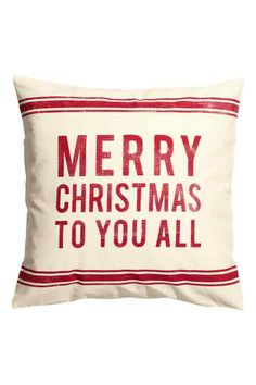 Merry Christmas pillow cover cm - H&M Home H&m Christmas, Merry Christmas To You, Xmas, Christmas Ideas, Find Furniture, Home Decor Furniture, Apartment Holiday Decor, Hm Home, Christmas Pillow Covers
