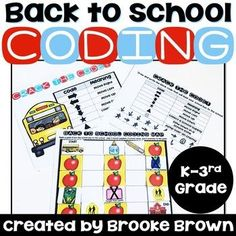 "Interested in Unplugged Coding for the Entire Year?! Click Below! ★Unplugged Coding ALL YEAR GROWING BUNDLE This simple, back to school themed introduction to block-style coding is perfect for Kindergarten through third graders as they learn the basics of ""unplugged"" programming without computers. ..."