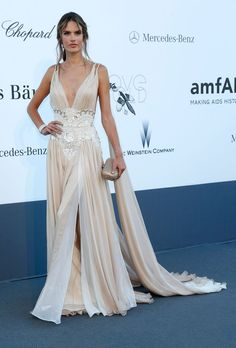 Alessandra Ambrosio in Zuhair Murad at the 2013 amfAR Cinema Against AIDS Gala (Cannes).