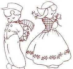 redwork dutch embroidery borduren bordados broderie stickerei