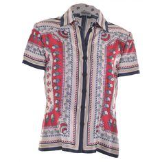 Philosophy di Alberta Ferretti printed sea shell blouse - £250    http://www.stanwells.com/by-designer/philosophy-di-alberta-ferretti/philosophy-printed-satin-twill-blouse