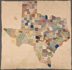 Map quilt of Texas