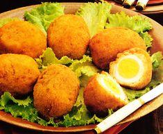 Recetas: Huevos a la escocesa Egg Recipes, Mexican Food Recipes, Cooking Recipes, Yummy Appetizers, Appetizer Recipes, Time To Eat, Diy Food, Cooking Time, Tapas