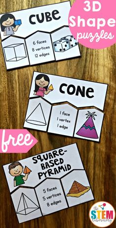 There are so many parts that go with learning about 3D shapes and these playful puzzles are a great way to tie it all together! Scroll down to grab the freebie then make sure to jump over and grab our free 2D shape sort too. Getting Ready To prep, I printed off the puzzles, ran them through the laminator and cut out the individual puzzle pieces.