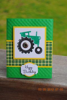 Handcrafted Green John Deere Tractor Birthday Card Boy Cards, Kids Cards, Cute Cards, Tractor Birthday, Grandpa Birthday, Masculine Birthday Cards, Masculine Cards, Kids Birthday Cards, Boy Birthday Parties