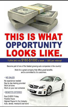 Check out my MCA website on my page to become a member for a job.