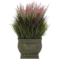 Add a generous splash of pastel color to your home with this decorative mixed grass. This mixed grass can be placed indoors or outdoors and requires no maintenance.