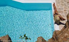 By the pool, Luxury Villa Carlotta , Mykonos Super Paradise Beach, Mykonos Island Greece, Mykonos Villas, Villa Pool, Mykonos Town, Resort Villa, Beautiful Villas, Fantasy Wedding, Hotel Suites