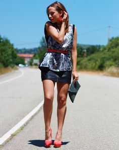 Negro y coral - Looks and shoes