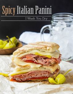 Spicy Italian Panini Grill Sandwich, Grilled Sandwich Recipe, Panini Sandwiches, Panini Sandwich Recipes, Italian Panini, Vegetarian Recipes, Healthy Recipes, Vegetarian Sandwiches, Going Vegetarian