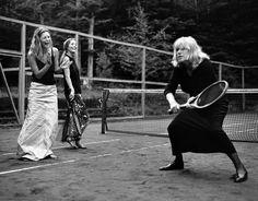 Kate Moss, Lucie de la Falaise and Marianne Faithful