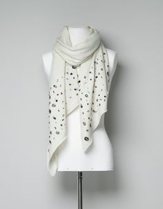 MULTICOLOR GEM SCARF - Scarves - Accessories - Woman - ZARA United States - I need to have this.
