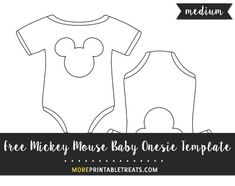 Free Mickey Mouse Baby Onesie Template - Medium Size