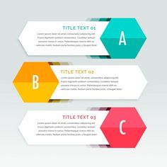 trois étapes infographies coloré modèle Vecteur gratuit Plus