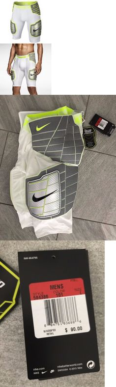 Protective Gear 21224: Nike Pro Combat Hyperstrong Football Girdle 584386-101 Mens Large White Volt -> BUY IT NOW ONLY: $30 on eBay!