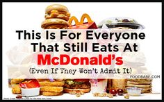 Are you STILL eating at McDonald's? Even if you won't admit to it, read this post today from Food Babe http://foodbabe.com/2015/03/27/everyone-still-eats-mcdonalds-even-wont-admit/ Brand new investigation!