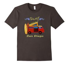 Surf San Diego Retro Van Surfing T-Shirt