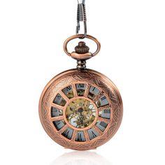 Antique Mechanical Black Roman Numerals Pocket Watch LPW162 Mechanical Pocket Watch, Ring Watch, Pocket Watch Antique, Pocket Watches, Roman Numerals, Automatic Watch, Quartz Watch, Clocks, Antiques