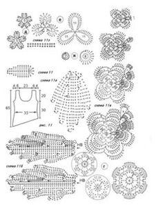 вязание крючком ирландское кружево схемы и модели: 26 тыс изображений найдено в Яндекс.Картинках