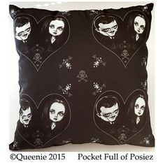 Gomez and Morticia Addams Love Throw Pillow Large Soft by Posiez