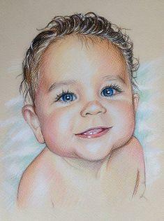 8 x 12 portrait personnalisé, Portrait de bébé, cadeau, portrait au crayon, dessin, personnalisé, portrait, portrait d