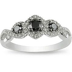 298@Overstock - Click here for Ring Sizing Chart.Black and white diamond ringJewelry is crafted of 10-karat white goldhttp://www.overstock.com/Jewelry-Watches/10k-Gold-1-2ct-TDW-Black-and-White-Diamond-Ring-H-I-I2-I3/4509628/product.html?CID=214117 $298.99