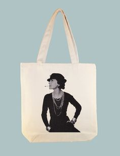 Coco Chanel 15x15 Canvas Tote Bag  other sizes by Whimsybags, $12.00
