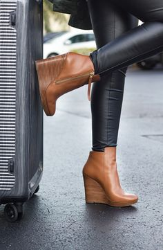 wedge booties