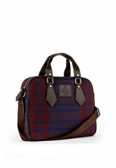 Blue Man Tartan Bag 13378 V Westwood